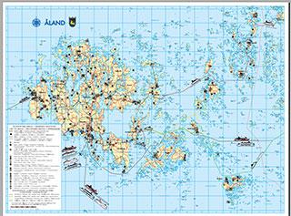 карта Аландских островов скачать