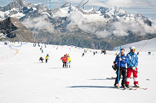 плато монте-роза в сторону церматта, в швейцарию