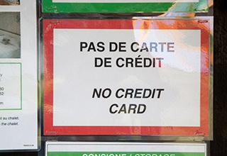 оплата только наличными, карты не принимаются