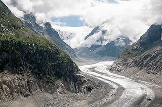 ледник Mer de glace
