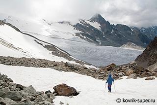 вид с пер. Planaval на ледник Rutor