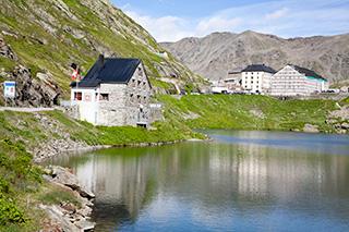 вид в Швейцарию с перевала Сен-Бернар