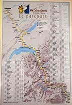 карта маршрута Via Francigena, скачать
