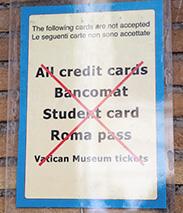 кредитные карты принимают к оплате не везде