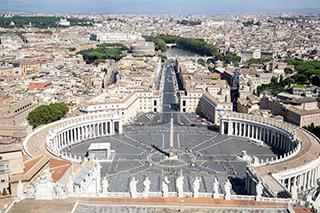 панорама Рима с купола собора Святого Петра