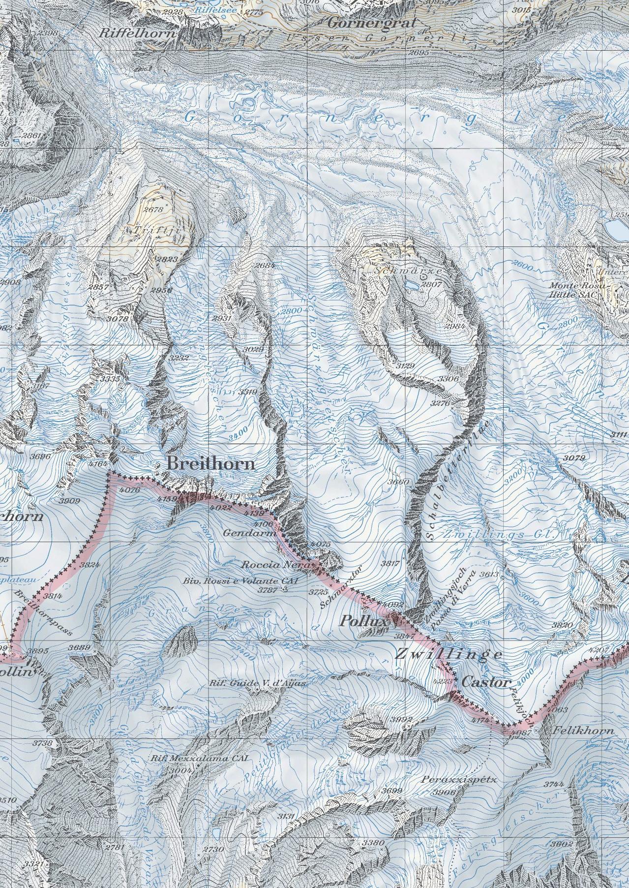 Breithorn, карта скачать
