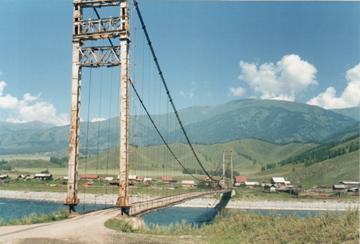 пос. Тюнгур. Мост через р. Катунь