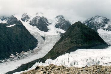 ледник Геблера с леводережной морены. Алтай
