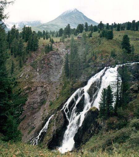 водопад на реке Большой Кокколь. Алтай, отчет