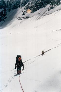 ледник Куркуре. Идем в верхнее фирновое плато