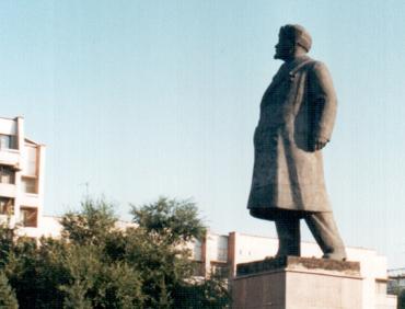 Бийск. Ленин в шапке-ушанке. Адаптированный под местные реалии образ Ильича