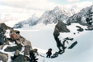 перевальная седловина пер. Туристов (3300, 1Б). Алтай