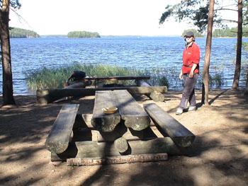 Байдарочный поход по Финляндии, озеро Haukivesi