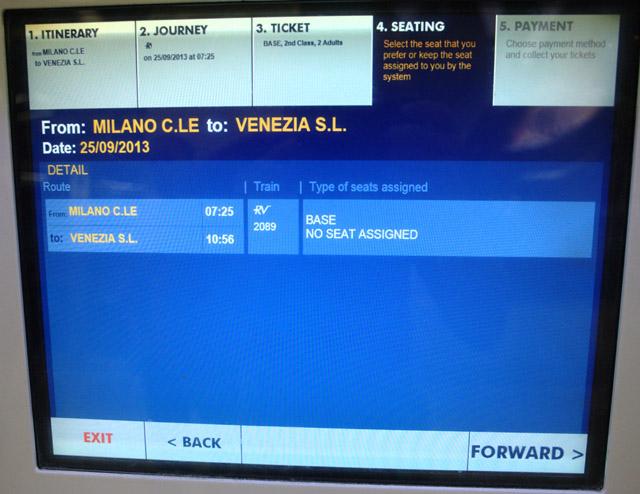 Милан – Венеция билет