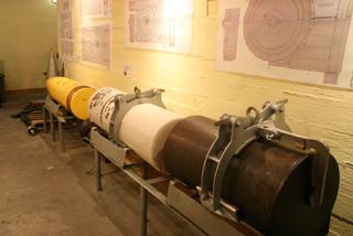 Снаряд 406 мм, военный музей в Хель, Польша