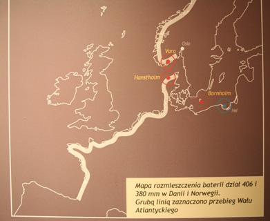 Зона поражения береговых батарей III рейха