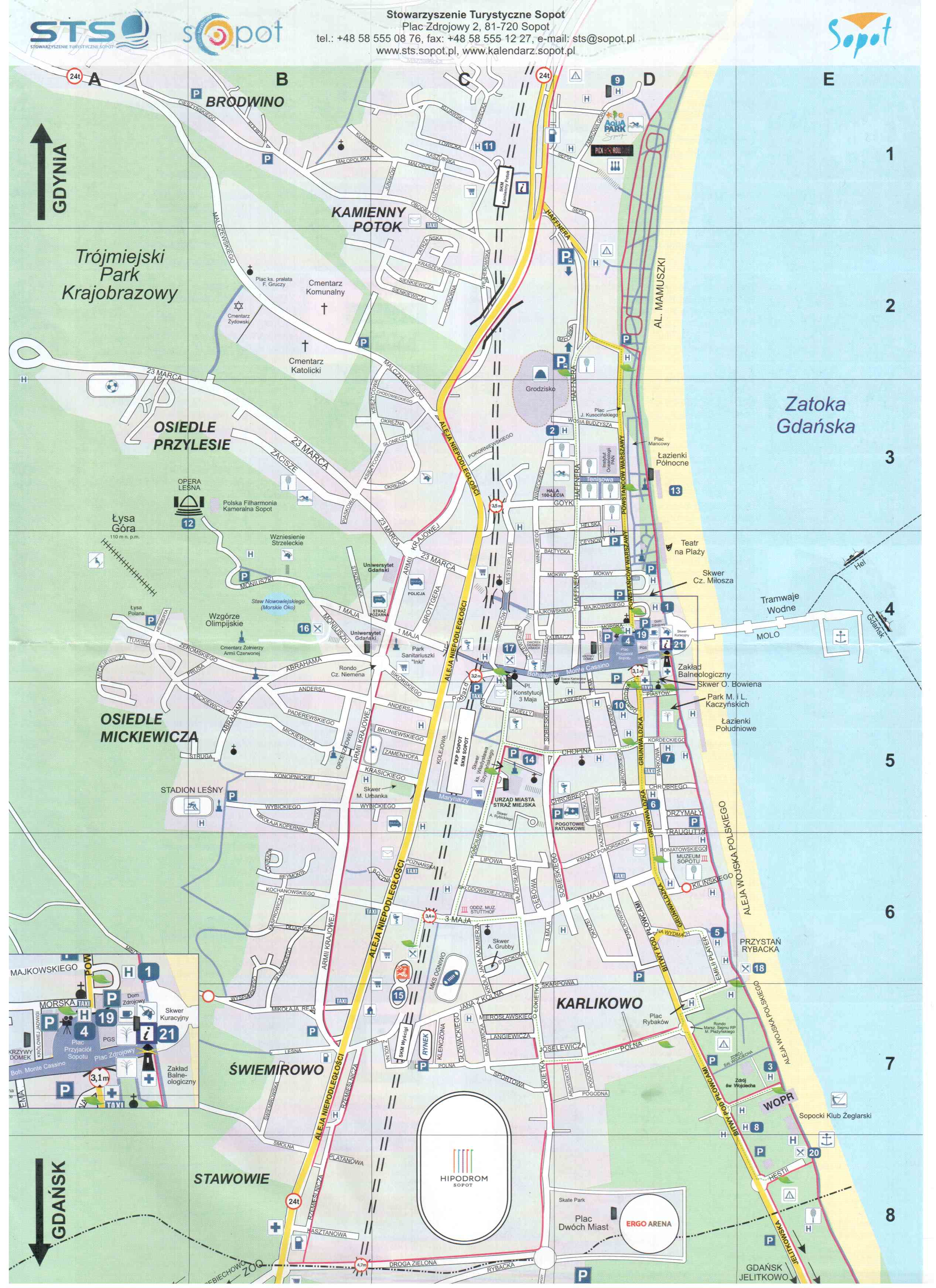 Sopot карта велодорожек
