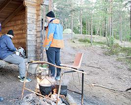 Sihkarinkallio laavu Финляндия