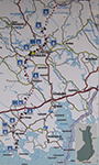 линия Салпа, карта