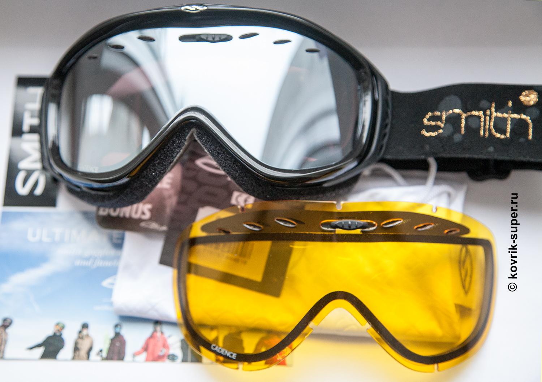 горнолыжная маска очки smith cadence