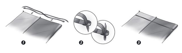 Набор ремней Coupler Kit для соединения двух ковриков Термарест