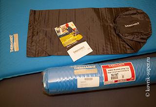 самонадувающийя коврик therm-a-rest basecamp комплектация