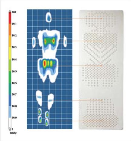 самонадувающийя коврик therm-a-rest тепловая карта