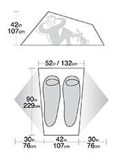 палатка Big Agnes Copper Spur со светодиодной подсветкой
