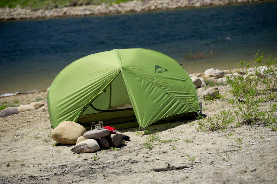 палатка MSR Hubba Hubba и горелка MSR Dragonfly