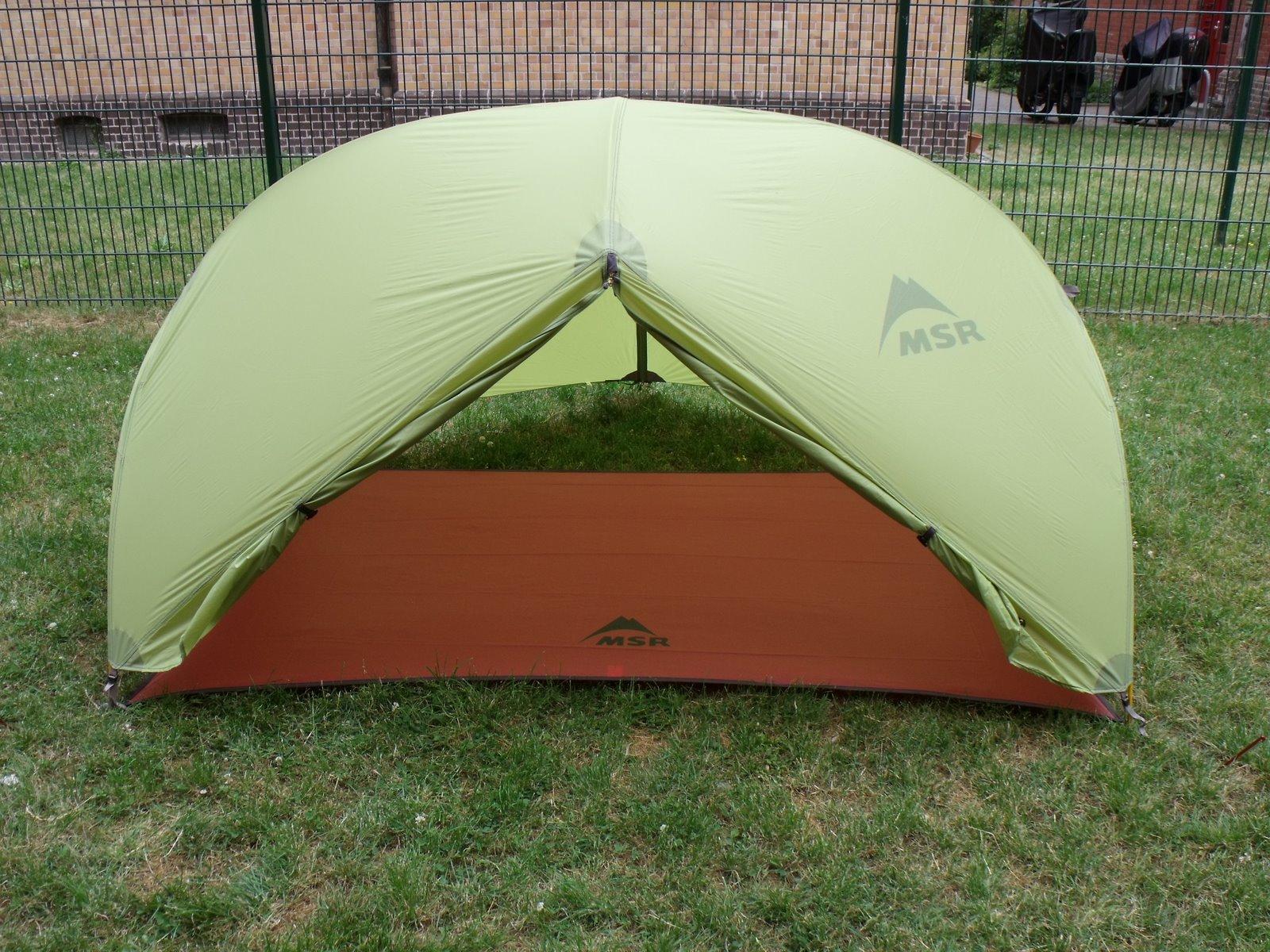 палатка MSR Hubba Hubba с футпринтом