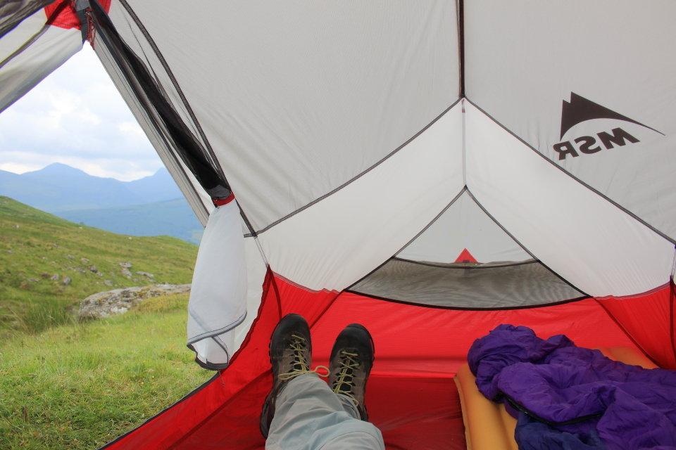 палатка MSR Hubba Hubba NX внутри