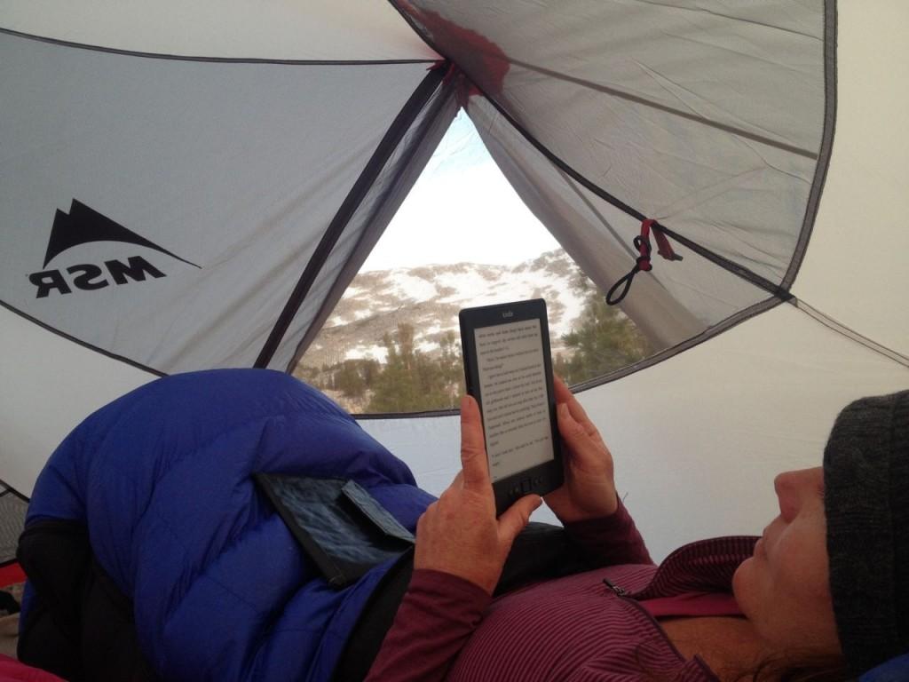 серый тент палатки MSR Hubba Hubba NX не искажает цветопередачу